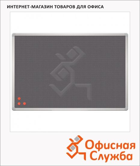 фото: Информационная доска 2X3 Office 60x90см серая, фетровая, алюминиевая рамка