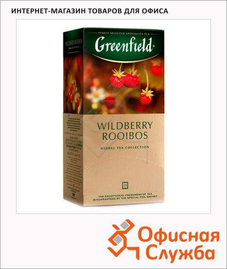 фото: Чай Greenfield Wildberry Rooibos (Вайлдберри Ройбош) травяной, 25 пакетиков