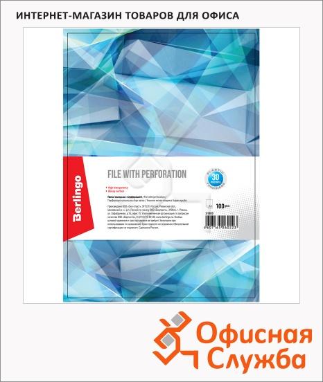 фото: Файл-вкладыш А4 Berlingo глянцевый 30 мкм, 100 шт/уп, S1000