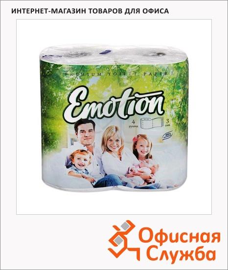 фото: Туалетная бумага Мягкий Знак Premium без аромата белая, 3 слоя, 4 рулона, 160 листов, 20м