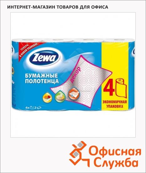 фото: Бумажные полотенца Zewa Decor белые 2 слоя, 4 рулона