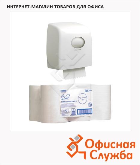 фото: Диспенсер для полотенец в рулонах Kimberly-Clark Aquarius/ Scott 6953 (1шт), +полотенца в рулонах, 6657 (6шт)