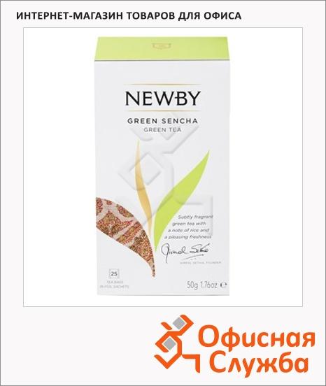 фото: Чай Newby Green Sencha (Грин сенча) зеленый, 25 пакетиков