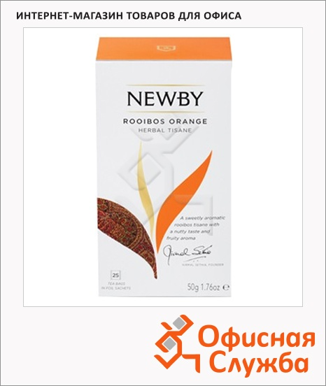 фото: Чай Newby Rooibos Orange (Ройбош оранж) ройбуш, 25 пакетиков