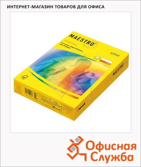 фото: Цветная бумага для принтера Maestro Color intensive солнечно-желтая 250 листов, 160г/м2