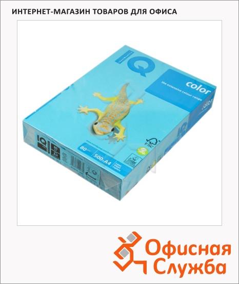 фото: Цветная бумага для принтера Iq Color intensive светло-синяя А4, AB48, 500 листов, 80г/м2