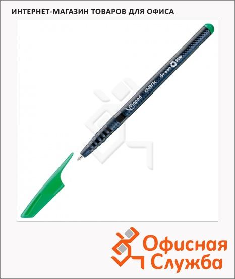 фото: Ручка шариковая Maped Green Dark зеленая 0.6мм