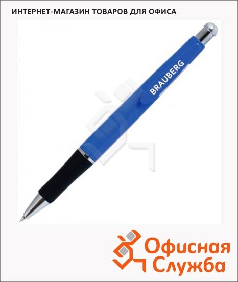 фото: Ручка шариковая автоматическая Brauberg Fast синяя 0.7мм, синий корпус