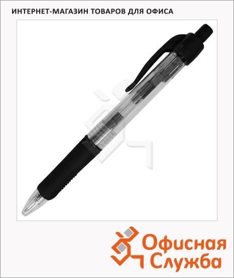 фото: Ручка шариковая автоматическая Marvy RB7 черная 0.7мм, прозрачный корпус