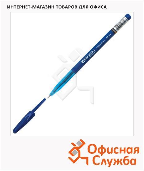 фото: Ручка шариковая Brauberg Oil Base синяя 0.7мм, прозрачный корпус