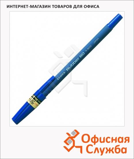 фото: Ручка шариковая Zebra Rubber 80 синяя 0.7мм