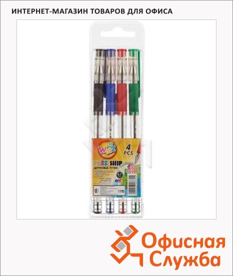 фото: Набор ручек шариковых Beifa 4 цвета 0.5мм