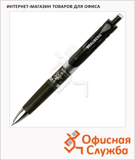 фото: Ручка гелевая автоматическая Brauberg Black Jack черная 0.7мм