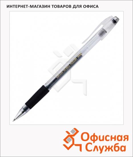 фото: Ручка гелевая Crown Hi-Jell Grip черная 0.5мм