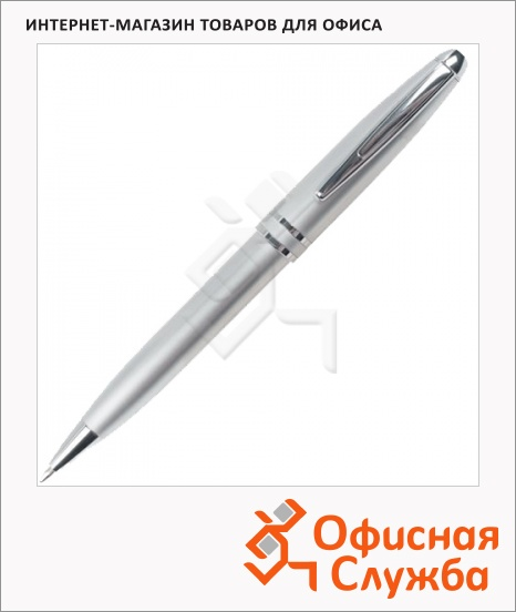 фото: Ручка шариковая Brauberg Oceanic Silver синяя 1мм, серебристый корпус