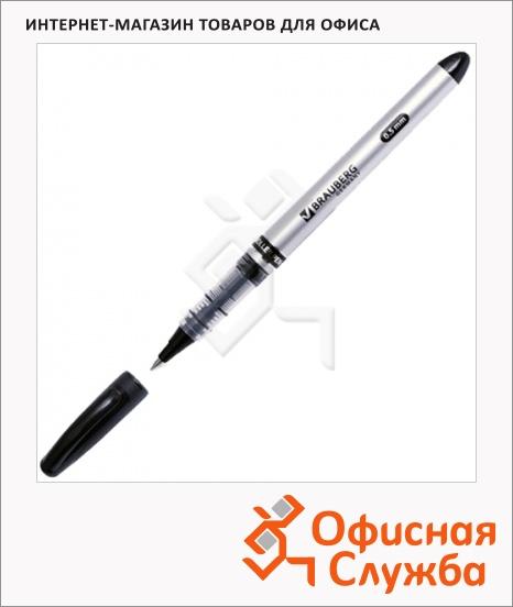фото: Ручка-роллер Brauberg Control черная 0.5мм
