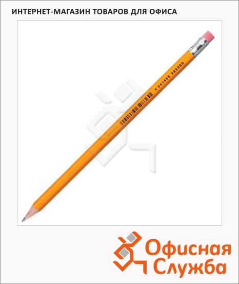 фото: Набор чернографитных карандашей Erich Krause Amber 101 HB с ластиком, 12шт, 32835