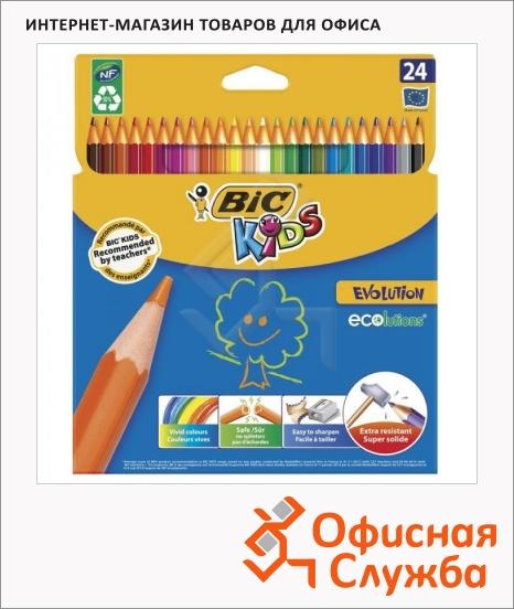 фото: Набор цветных карандашей Bic Evolution 93 24 цвета 829733