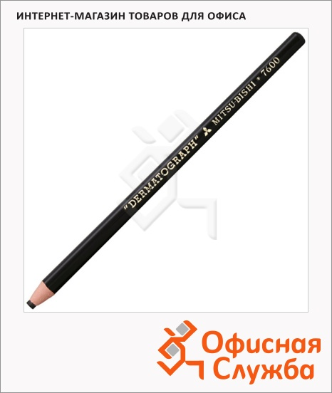 фото: Карандаш перманентный Uni Dermatograph P-7600 черный