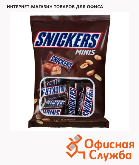 фото: Батончик шоколадный Snickers Minis 180г