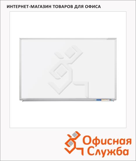 фото: Доска магнитная маркерная Magnetoplan SP 1241188 120х300см белая, лаковая, алюминиевая рама, полочка