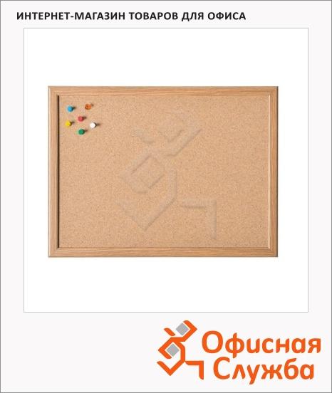 фото: Доска пробковая Magnetoplan 121924 40х60см коричневая, деревянная рама
