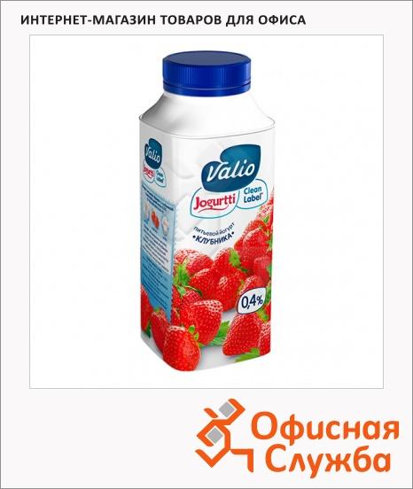 фото: Йогурт питьевой Valio 0.4% клубника 330г