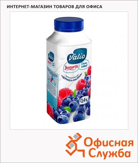фото: Йогурт питьевой Valio 0.4% малина-черника 330г