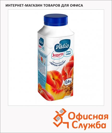 фото: Йогурт питьевой Valio 0.4% персик и мюсли 330г