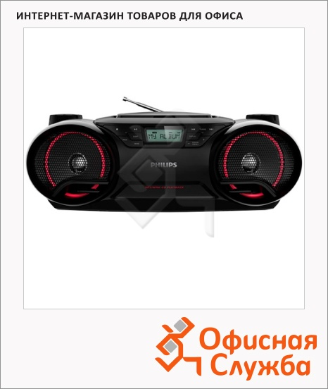 фото: Магнитола Philips AZ-3831/12 черная CD/CD-R/CD-RW/MP3-CD/WMA-CD