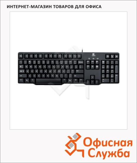 фото: Клавиатура проводная PS/2 Logitech Classic K100 черная