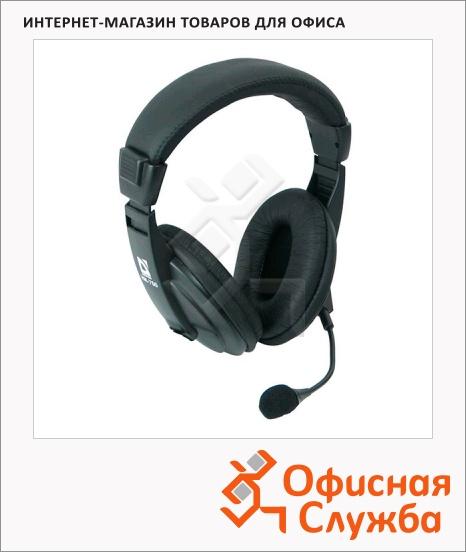 фото: Гарнитура проводная Defender HN-750 черная 20 Гц-20 кГц