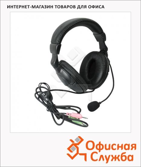 фото: Гарнитура проводная Defender HN-898 черная 20 Гц-20 кГц
