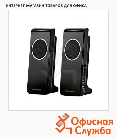 фото: Колонки компьютерные Sonnen SP-C2 2х2Вт, черные, 2.0
