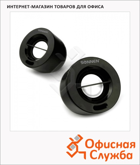 фото: Колонки компьютерные Sonnen SP-C4 2х3Вт, черные, 2.0