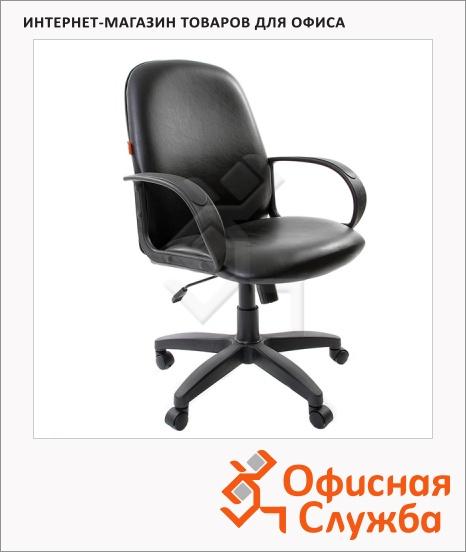 фото: Кресло руководителя Chairman 279-M иск. кожа черная, крестовина пластик, низкая спинка