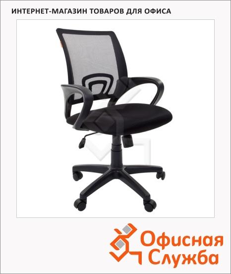 фото: Кресло офисное Chairman 696 ткань черная TW, крестовина пластик, черная DW