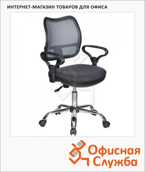 фото: Кресло офисное Бюрократ CH-799SL/DG ткань TW, крестовина хром, серая, TW, крестовина хром