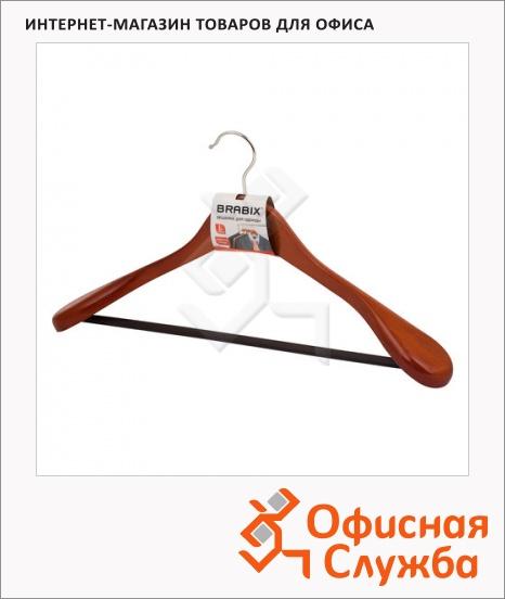 фото: Плечики для одежды Brabix Люкс вишня 45 см, с перекладиной