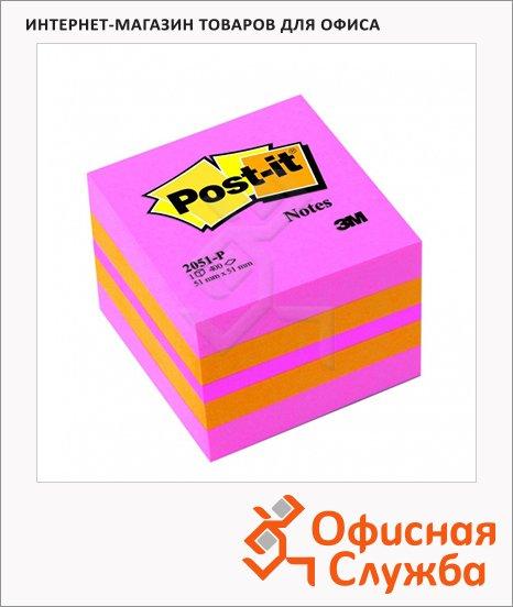 Блок для записей с клейким краем Post-It Classic розовый, 51х51мм, 400 листов, пастельный, 2051-Р