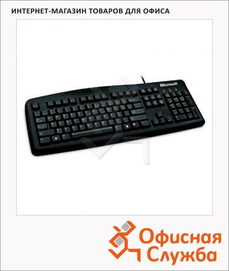 Клавиатура проводная USB Microsoft Wired Keyboard 200, черная