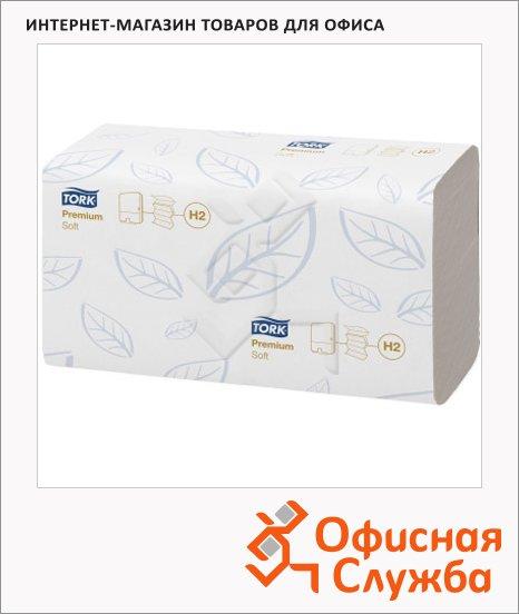 Бумажные полотенца Tork Premium H2, 100288, листовые, 110шт, 2 слоя, белые