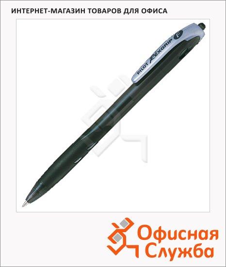 Ручка шариковая автоматическая Pilot Rex Grip черная, 0.32мм