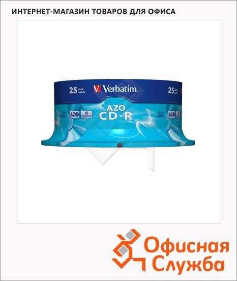 Диск CD-R Verbatim 700Mb, 52x, Cake Box, 25шт/уп