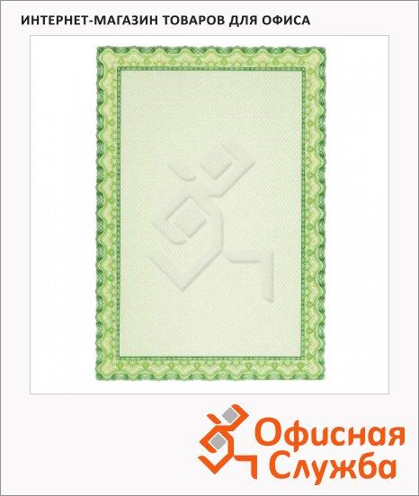 фото: Сертификат-бумага Decadry зеленая волна А4, 115г/м2, 25 листов