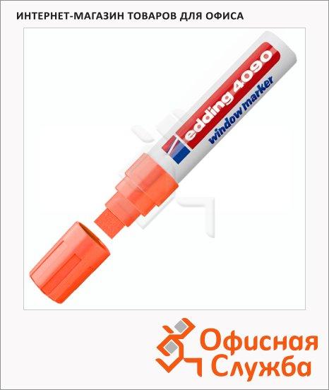 фото: Маркер меловой Edding 4090 неоновый оранжевый 4-15мм, клиновидный наконечник, для досок и любых гладких поверхностей