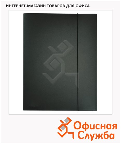 Пластиковая папка на резинке Durable черная, A4, до 150 листов, 2323-01