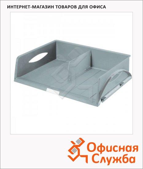 Лоток горизонтальный для бумаг Leitz Sorty Jumbo А3, серый, 52320085
