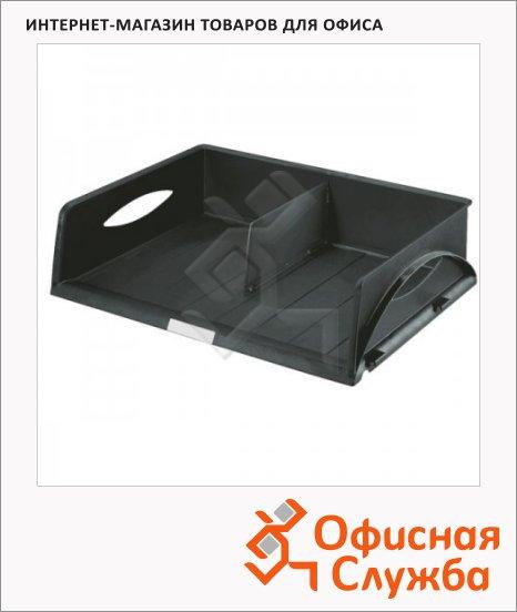 Лоток горизонтальный для бумаг Leitz Sorty Jumbo А3, черный, 52320095
