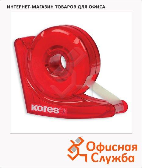 фото: Диспенсер с клейкой лентой Kores Улитка 19мм х33м красный